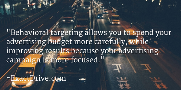 Benefits of behavioral targeting