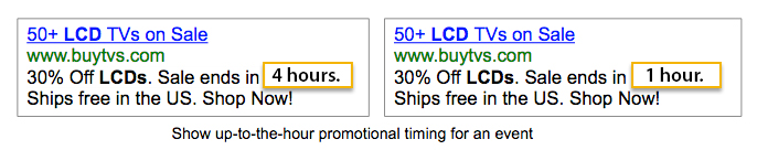 Countdown Ad Customizers