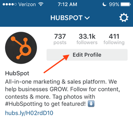 perfect instagram profile hubspot.png